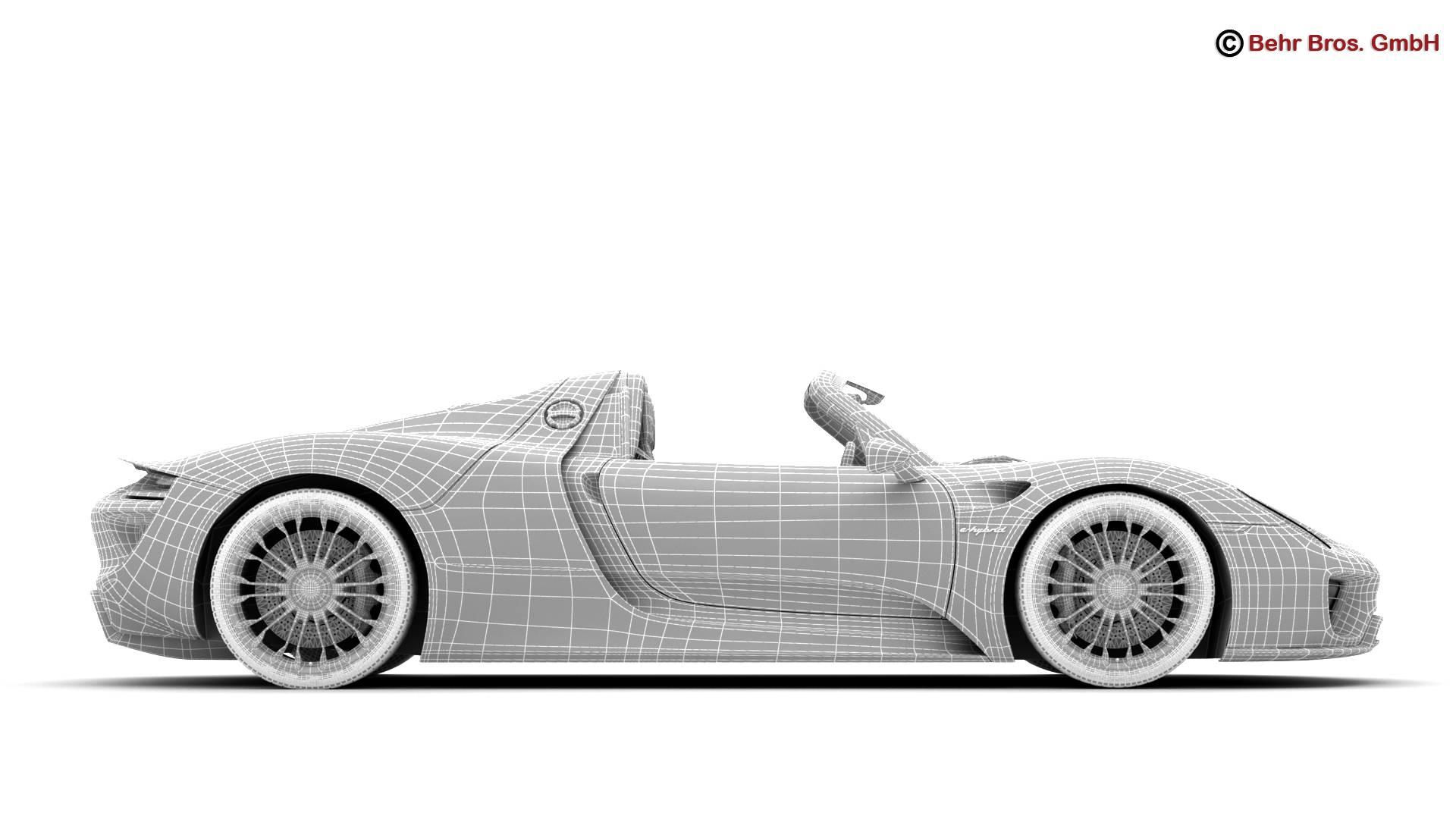 porsche 918 spyder with detachable roof 3d model 3ds max fbx c4d lwo ma mb obj 209355