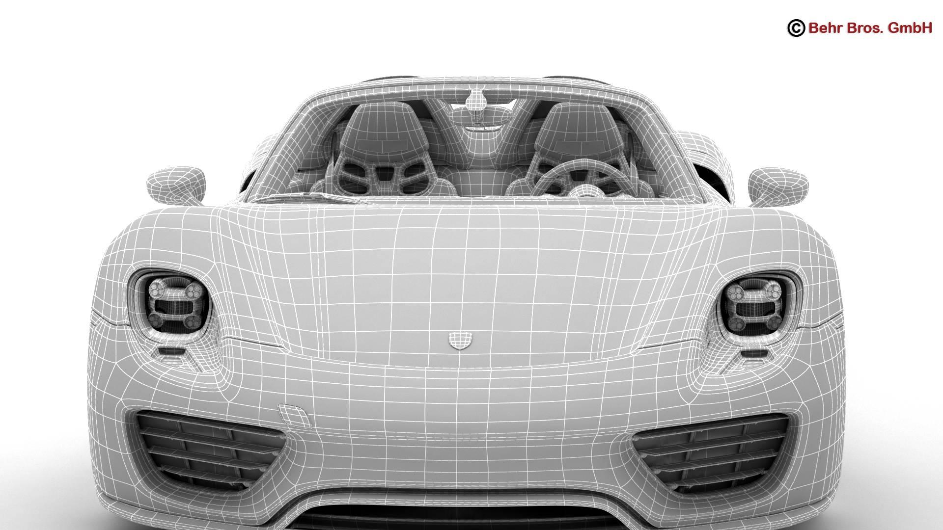 porsche 918 spyder with detachable roof 3d model 3ds max fbx c4d lwo ma mb obj 209356