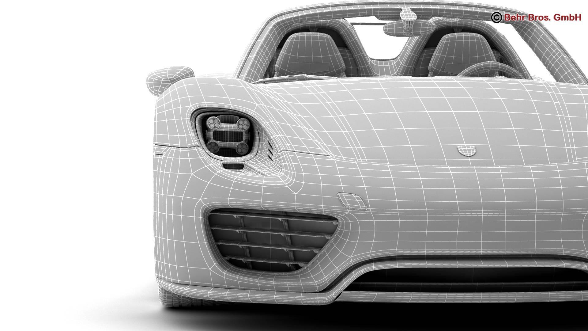 porsche 918 spyder with detachable roof 3d model 3ds max fbx c4d lwo ma mb obj 209357