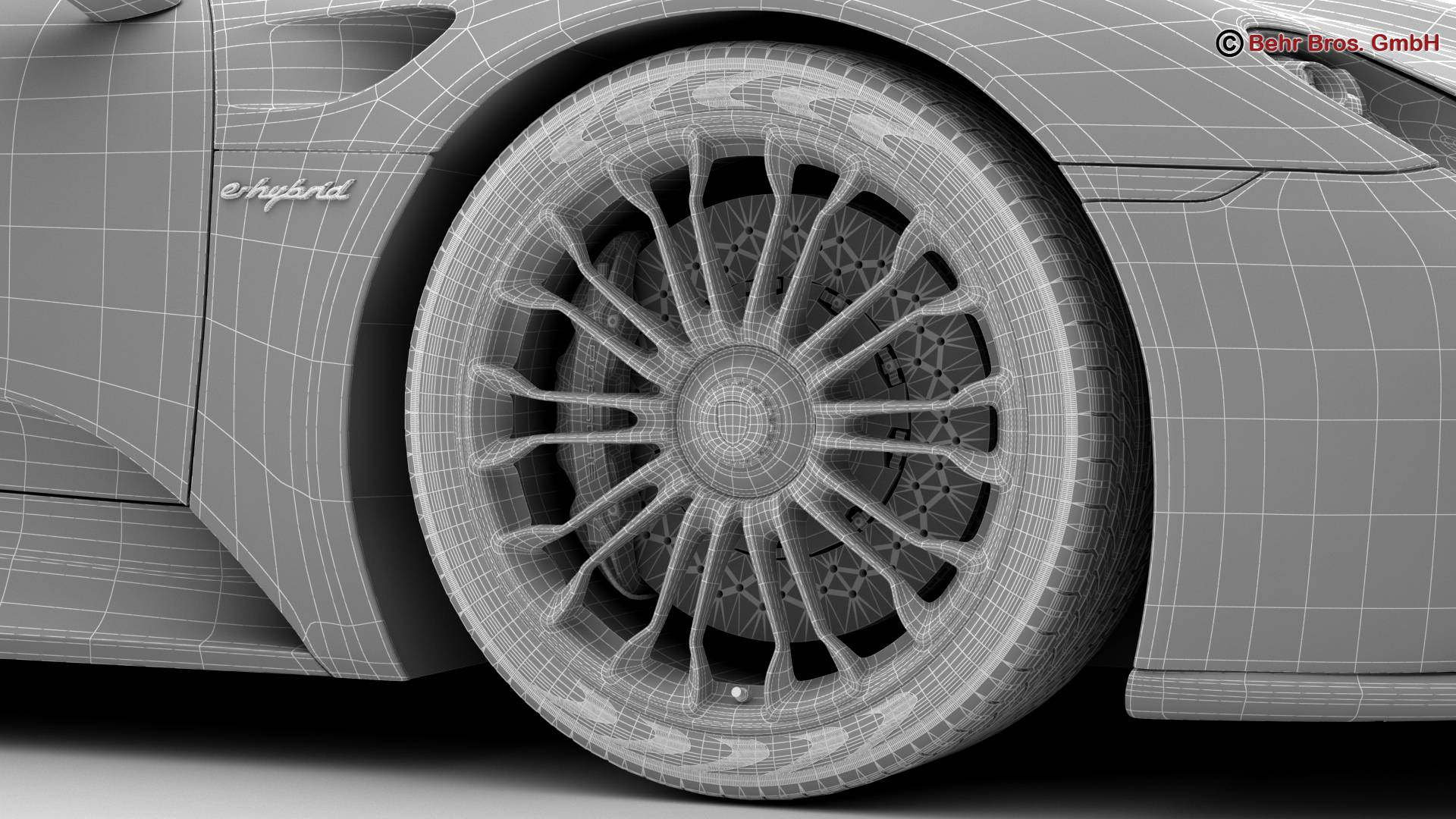 porsche 918 spyder with detachable roof 3d model 3ds max fbx c4d lwo ma mb obj 209358