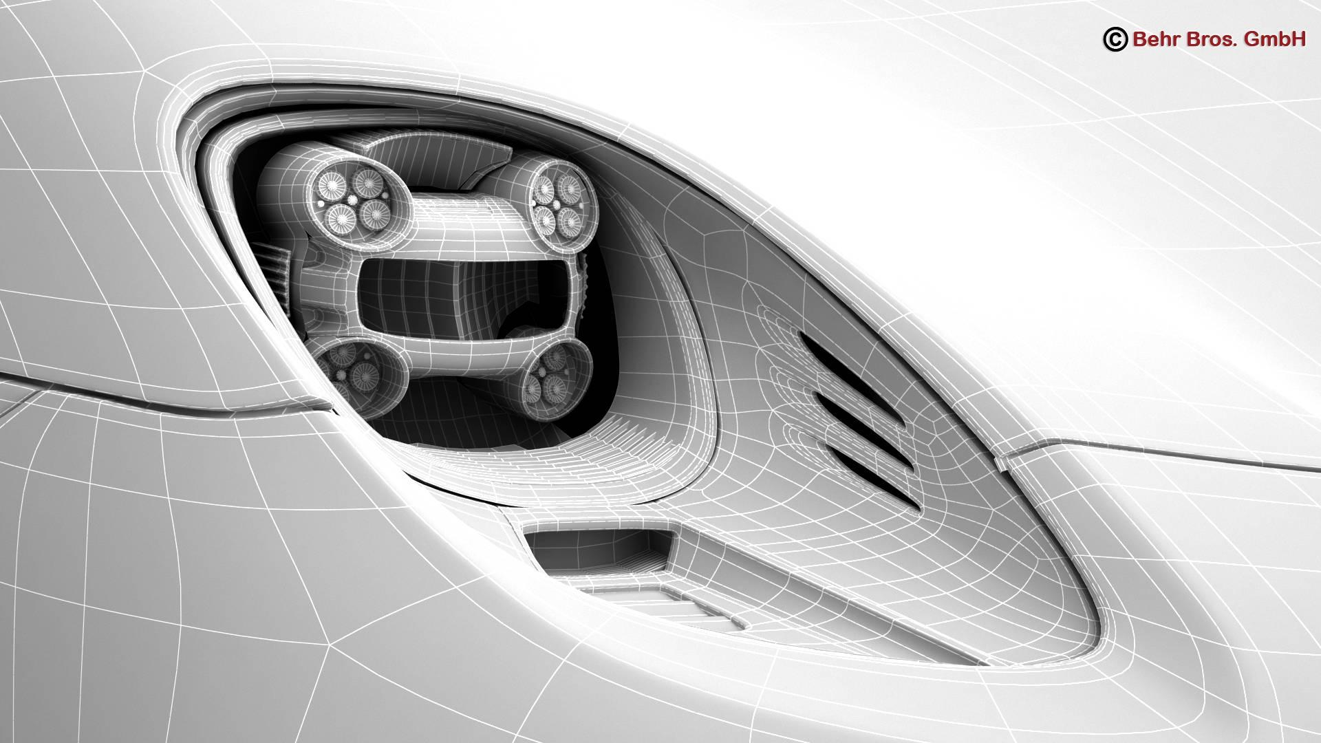 porsche 918 spyder with detachable roof 3d model 3ds max fbx c4d lwo ma mb obj 209359