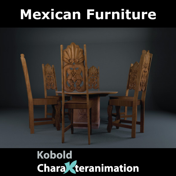 mexican chair and table 3d model c4d 209371