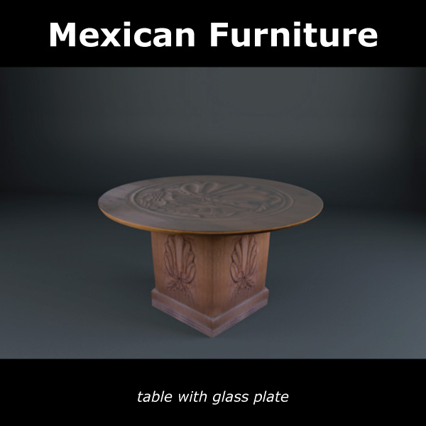 mexican chair and table 3d model c4d 209372