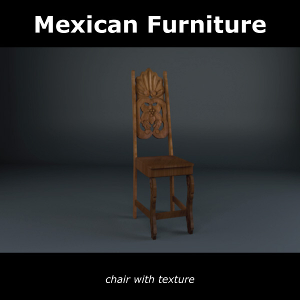 mexican chair and table 3d model c4d 209374