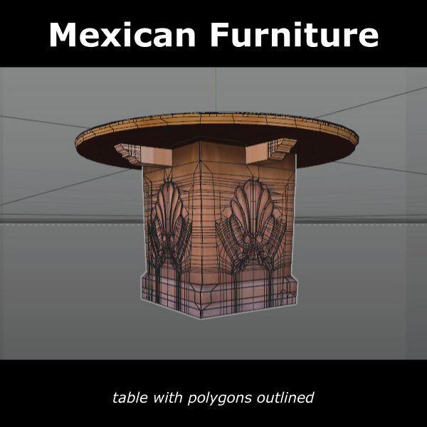mexican chair and table 3d model c4d 209376