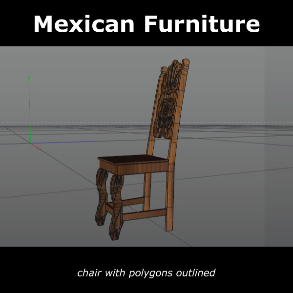 mexican chair and table 3d model c4d 209377
