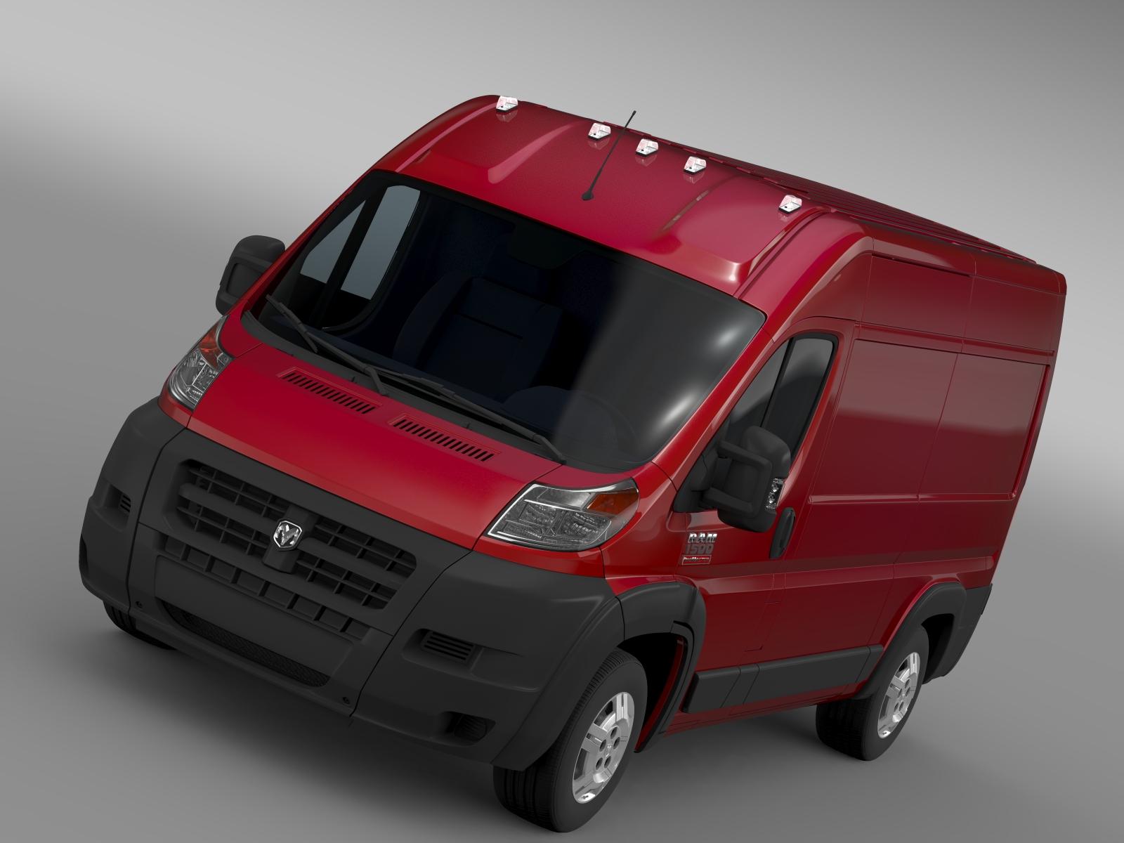 ram promaster cargo 1500 hr 136wb 2015 3d model 3ds max fbx c4d lwo ma mb hrc xsi obj 209380