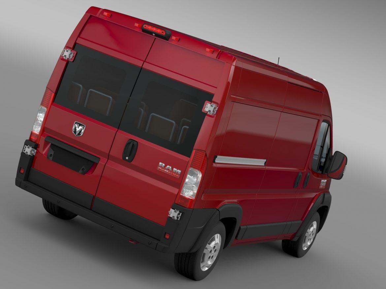ram promaster cargo 1500 hr 136wb 2015 3d model 3ds max fbx c4d lwo ma mb hrc xsi obj 209381
