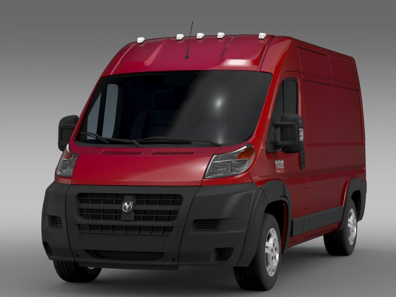 ram promaster cargo 1500 hr 136wb 2015 3d model 3ds max fbx c4d lwo ma mb hrc xsi obj 209382