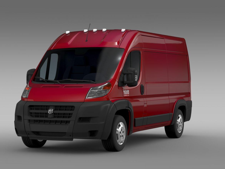 ram promaster cargo 1500 hr 136wb 2015 3d model 3ds max fbx c4d lwo ma mb hrc xsi obj 209383