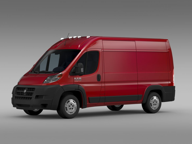 ram promaster cargo 1500 hr 136wb 2015 3d model 3ds max fbx c4d lwo ma mb hrc xsi obj 209384