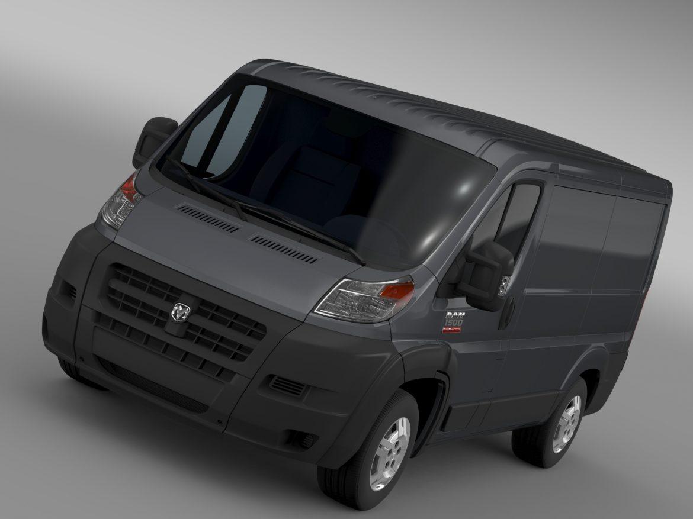ram promaster cargo 1500 lr 118wb 2015 3d model 3ds max fbx c4d lwo ma mb hrc xsi obj 209400