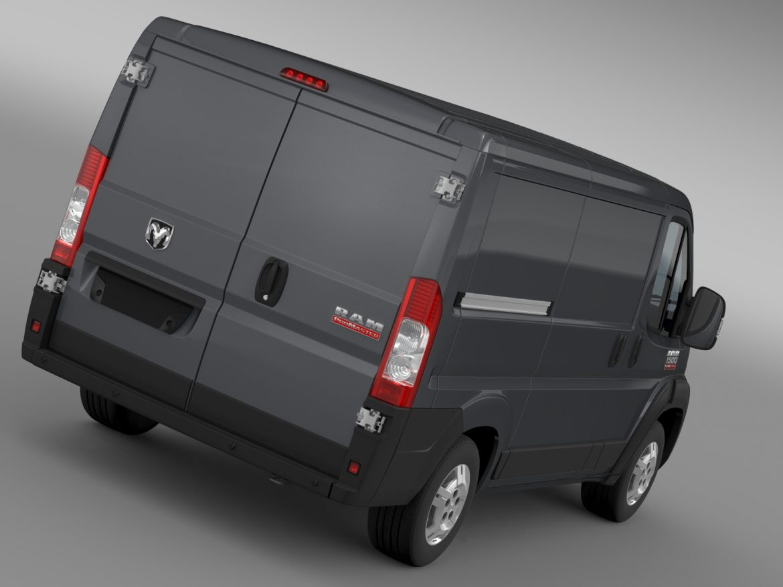 ram promaster cargo 1500 lr 118wb 2015 3d model 3ds max fbx c4d lwo ma mb hrc xsi obj 209401