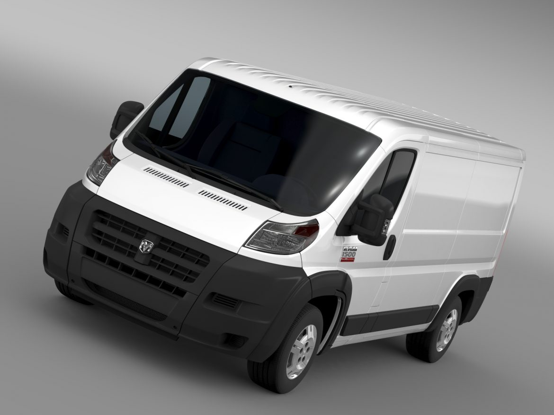 ram promaster cargo 1500 lr 136wb 2015 3d model 3ds max fbx c4d lwo ma mb hrc xsi obj 209420