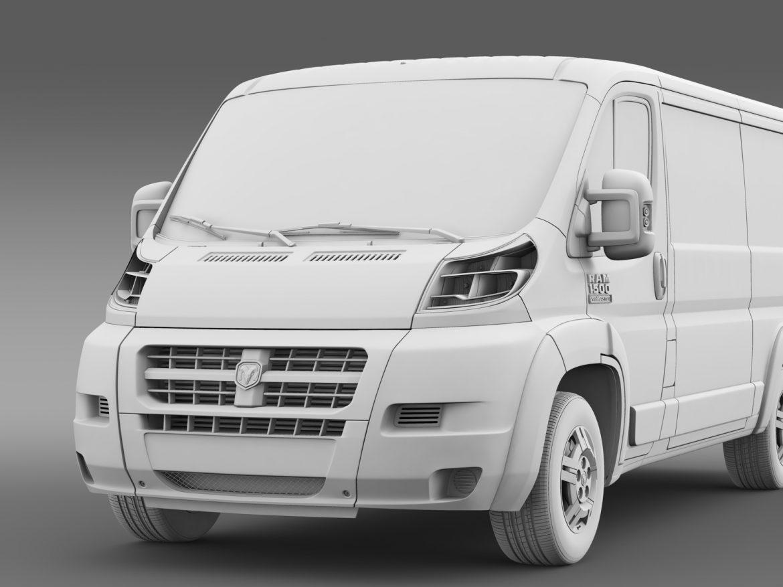 ram promaster cargo 1500 lr 136wb 2015 3d model 3ds max fbx c4d lwo ma mb hrc xsi obj 209434
