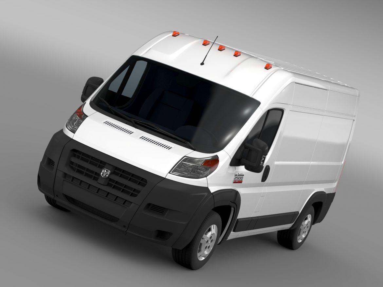 ram promaster cargo 2500 hr 136wb 2015 3d model 3ds max fbx c4d lwo ma mb hrc xsi obj 209439