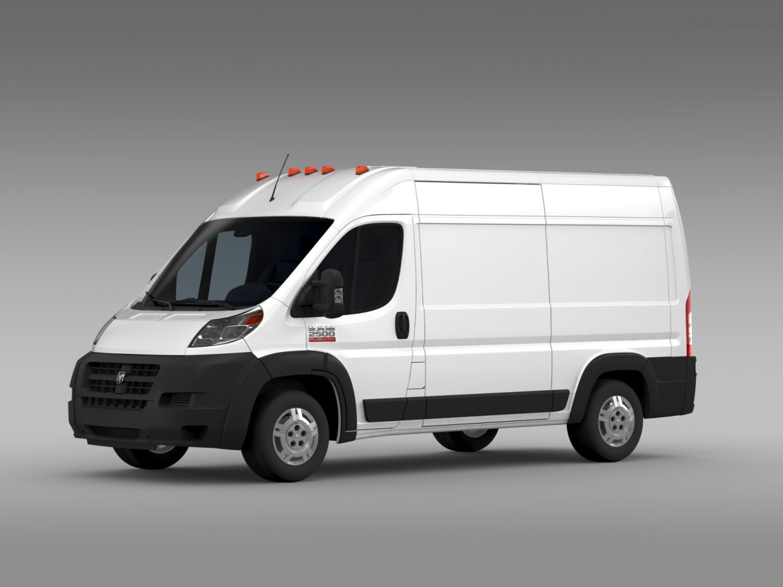 ram promaster cargo 2500 hr 136wb 2015 3d model 3ds max fbx c4d lwo ma mb hrc xsi obj 209443