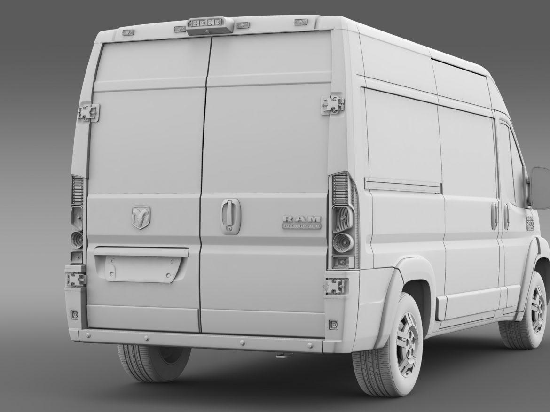 ram promaster cargo 2500 hr 136wb 2015 3d model 3ds max fbx c4d lwo ma mb hrc xsi obj 209454