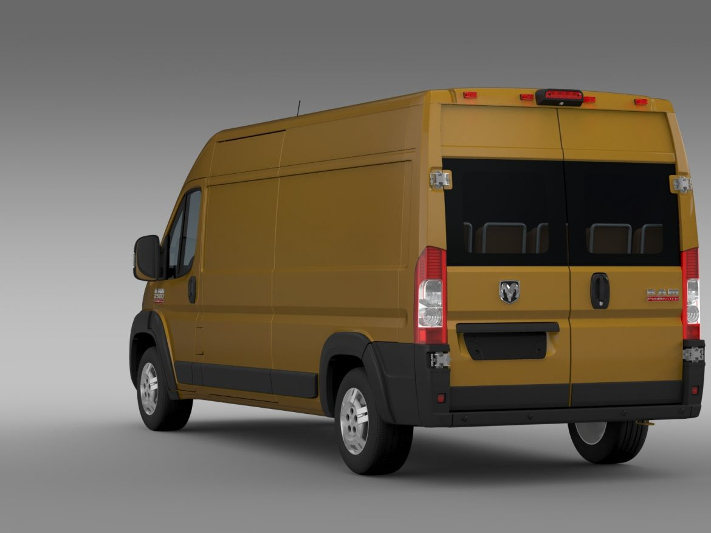 ram promaster cargo 2500 hr 159wb 2015 3d model 3ds max fbx c4d lwo ma mb hrc xsi obj 209466