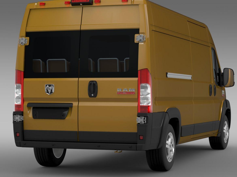 ram promaster cargo 2500 hr 159wb 2015 3d model 3ds max fbx c4d lwo ma mb hrc xsi obj 209467