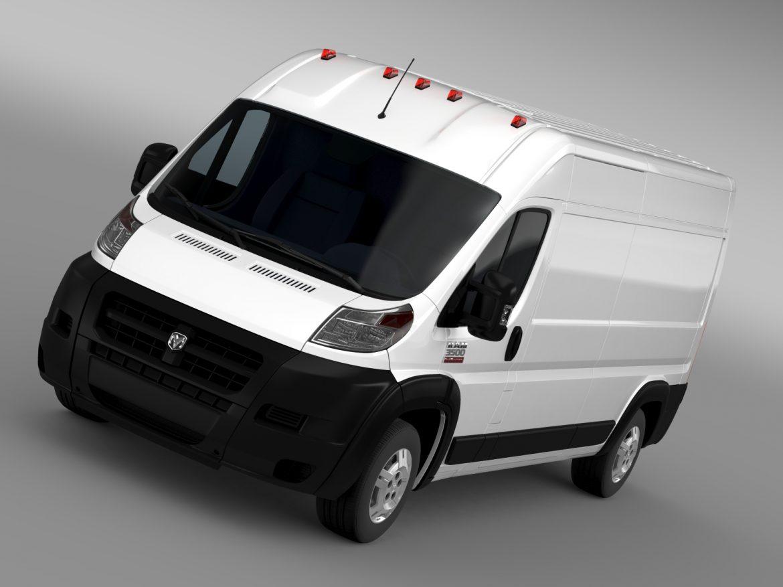 ram promaster cargo 3500 hr 159wb 2015 3d model 3ds max fbx c4d lwo ma mb hrc xsi obj 209479