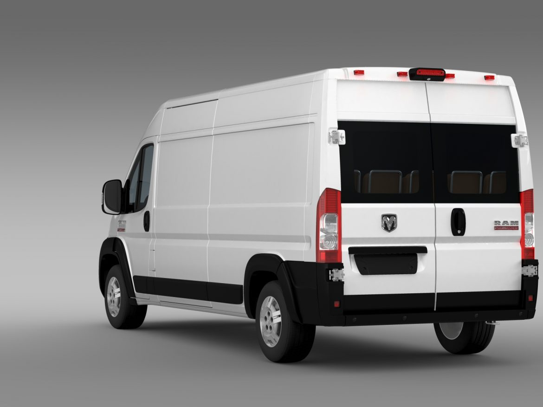 ram promaster cargo 3500 hr 159wb 2015 3d model 3ds max fbx c4d lwo ma mb hrc xsi obj 209486