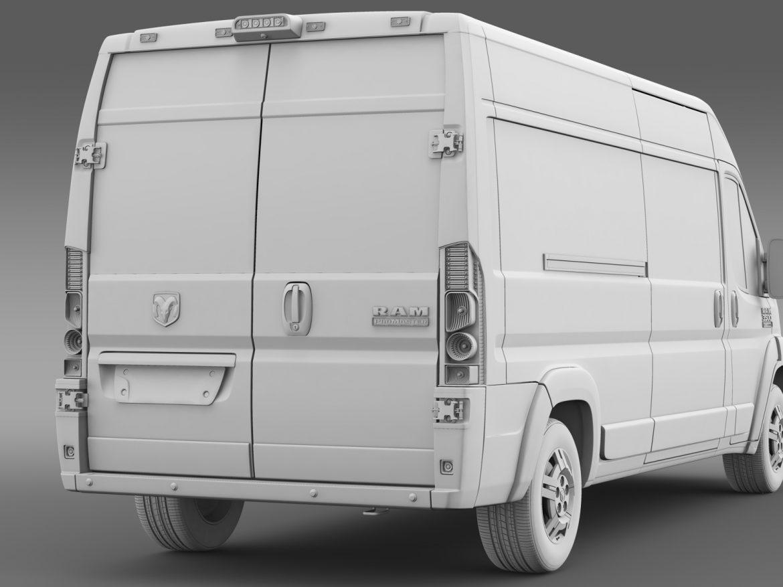 ram promaster cargo 3500 hr 159wb 2015 3d model 3ds max fbx c4d lwo ma mb hrc xsi obj 209494
