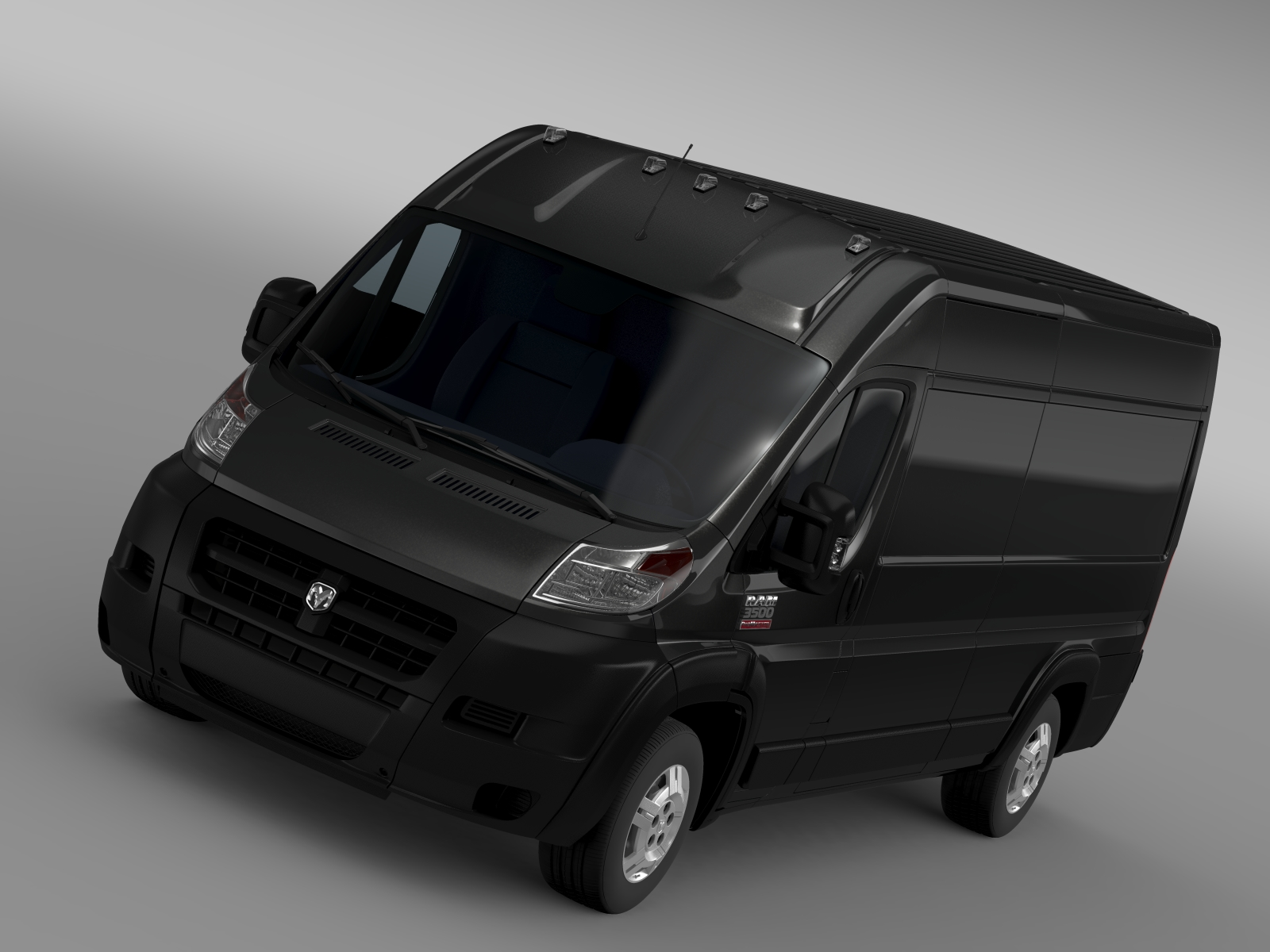 ram promaster cargo 3500 hr 159wb ext 3d model 209499