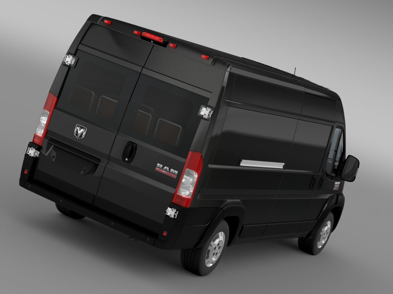 ram promaster cargo 3500 hr 159wb ext 2015 3d model 3ds max fbx c4d lwo ma mb hrc xsi obj 209500