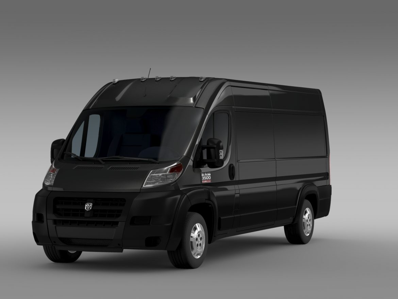 ram promaster cargo 3500 hr 159wb ext 2015 3d model 3ds max fbx c4d lwo ma mb hrc xsi obj 209502
