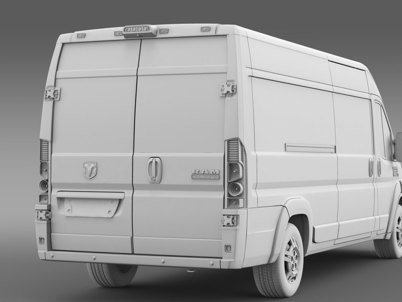 ram promaster cargo 3500 hr 159wb ext 2015 3d model 3ds max fbx c4d lwo ma mb hrc xsi obj 209515