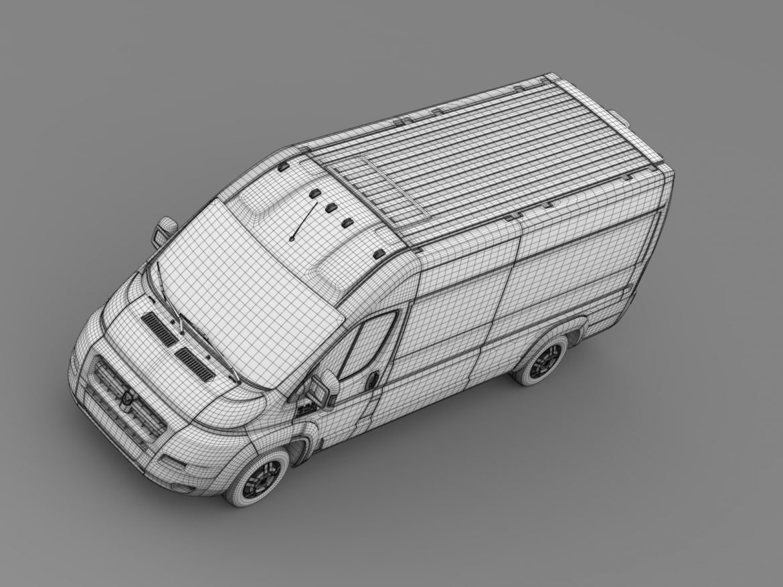 ram promaster cargo 3500 hr 159wb ext 2015 3d model 3ds max fbx c4d lwo ma mb hrc xsi obj 209516