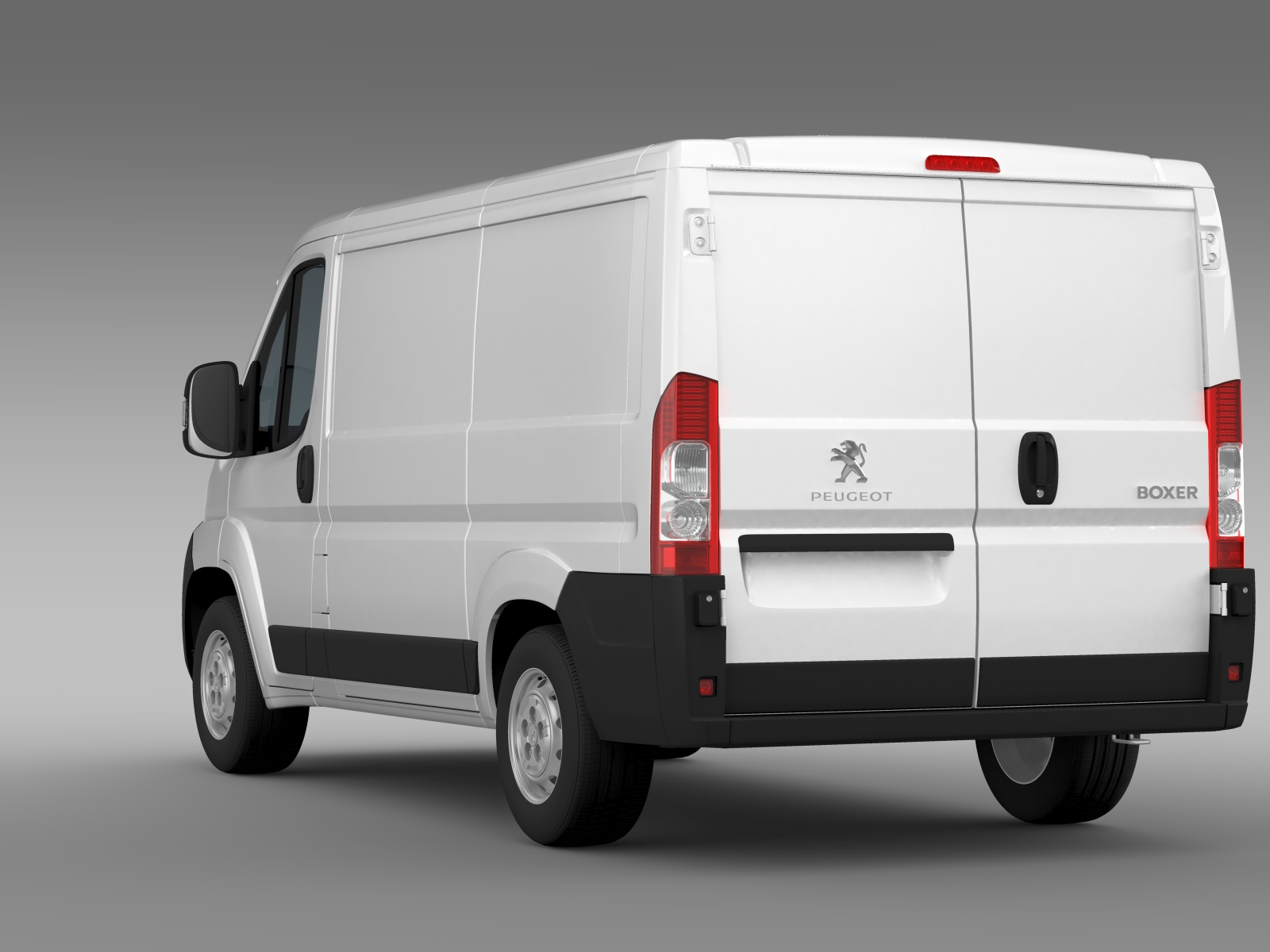 peugeot boxer van l1h1 2006 2014 3d model flatpyramid. Black Bedroom Furniture Sets. Home Design Ideas