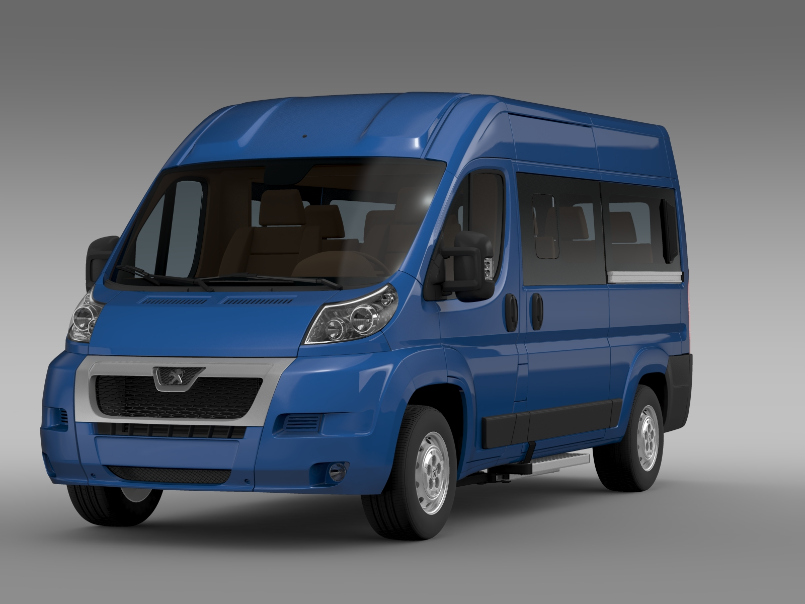 peugeot boxer window van l2h2 2006 2014 3d model flatpyramid. Black Bedroom Furniture Sets. Home Design Ideas