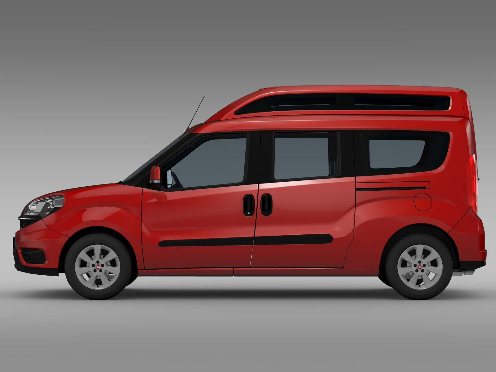 fiat doblo highroof maxi 263 2015 3d model buy fiat. Black Bedroom Furniture Sets. Home Design Ideas