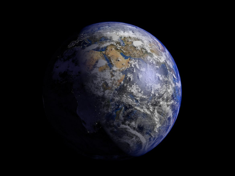 Earth 3d model 3ds fbx blend dae obj