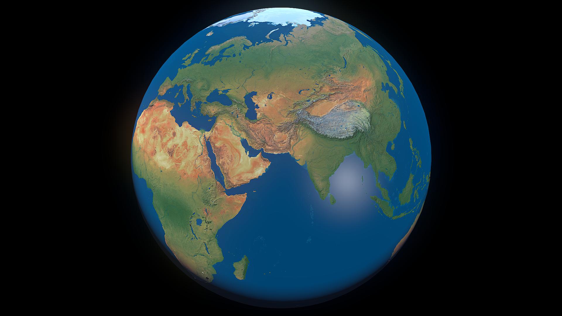 earth 16k - #2 3d modeļa 3ds fbx blend dae obj 209759