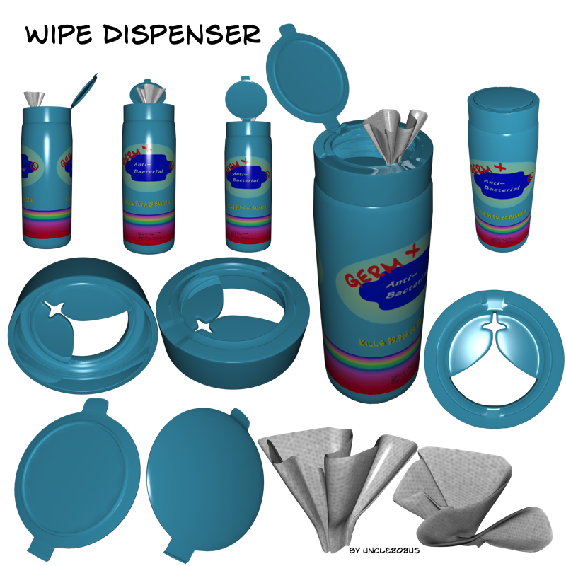 wipe dispenser 3d model fbx pz3 pp2 209766