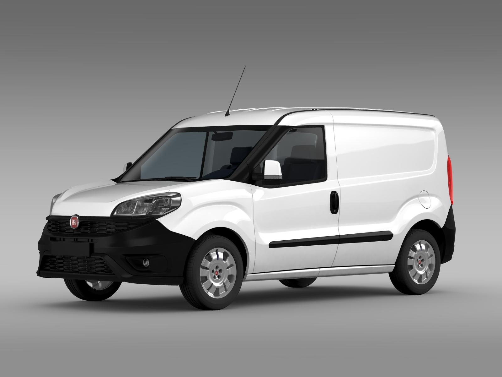 Fiat Doblo Cargo 263 2015 3d Model