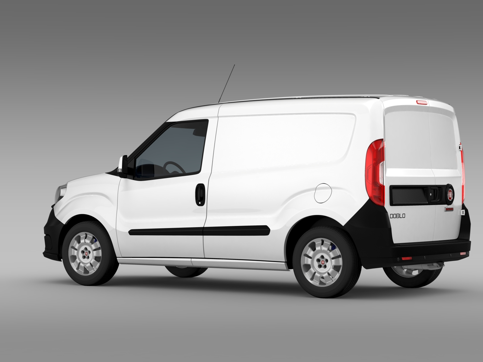 fiat doblo cargo 263 2015 3d model buy fiat doblo cargo. Black Bedroom Furniture Sets. Home Design Ideas