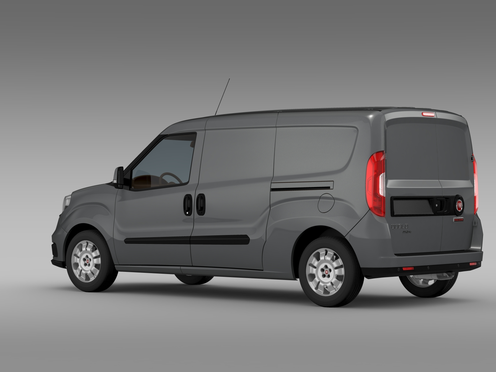 fiat doblo cargo maxi 263 2015 3d model. Black Bedroom Furniture Sets. Home Design Ideas