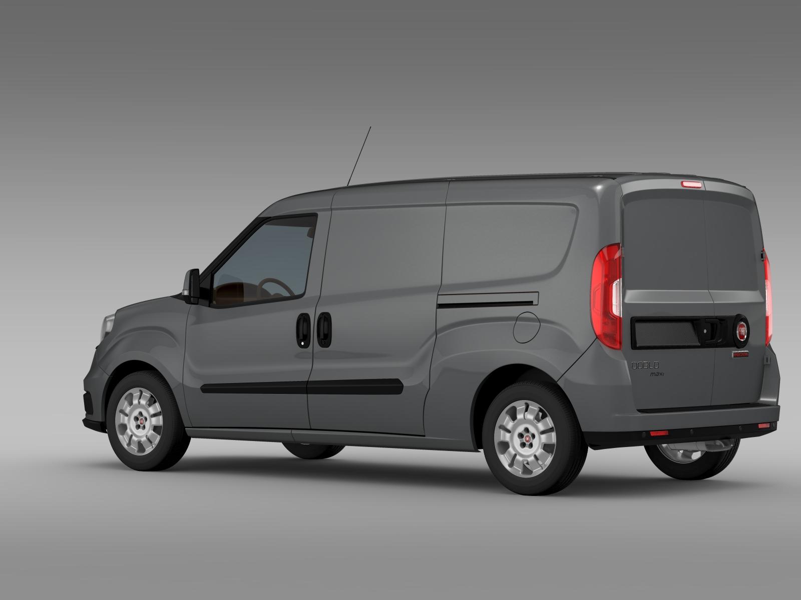 Fiat Doblo Cargo Maxi 263 2015 3d Model