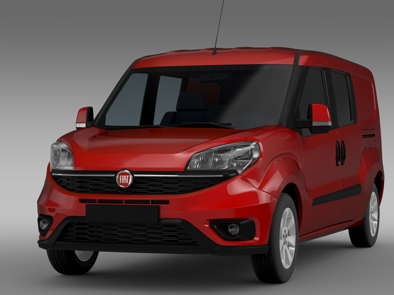 fiat doblo maxi combi 263 2015 3d model buy fiat doblo. Black Bedroom Furniture Sets. Home Design Ideas