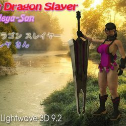 The Dragon Slayer: Cattleya-San (Comes with Rig) 3d model 0