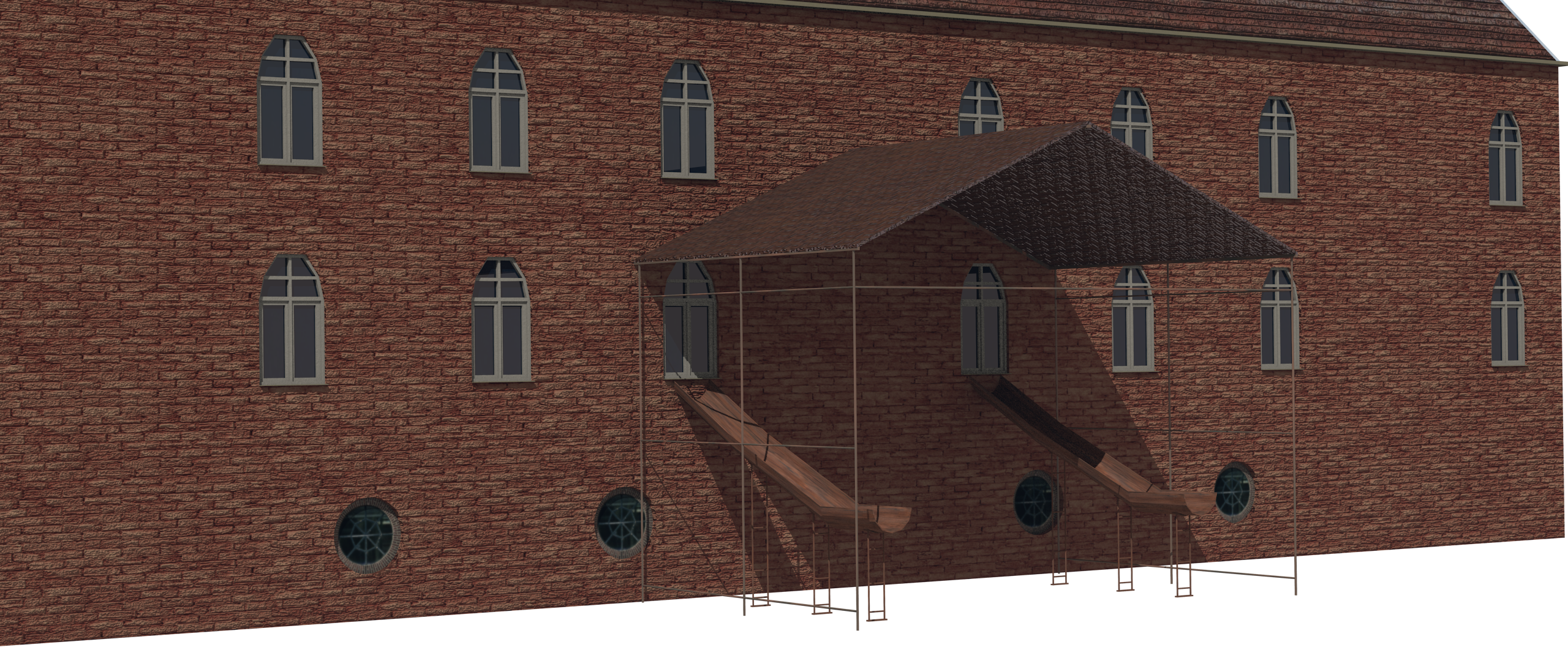 old factory 3d model 3ds 210059
