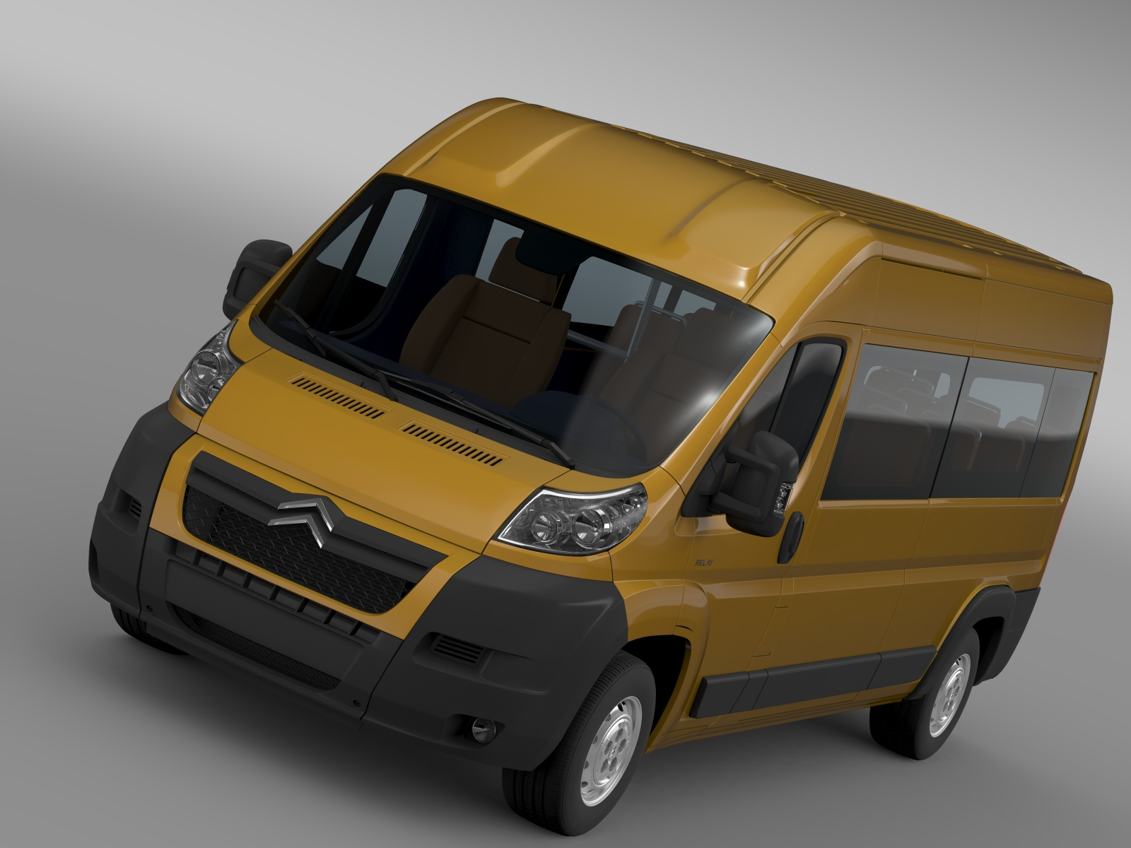 citroen relay window van l3h2 2006-2014 3d model 3ds max fbx c4d lwo ma mb hrc xsi obj 210090