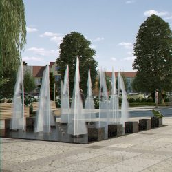 Fountain with Textured Water Splash 3d model 3ds max fbx c4d  obj