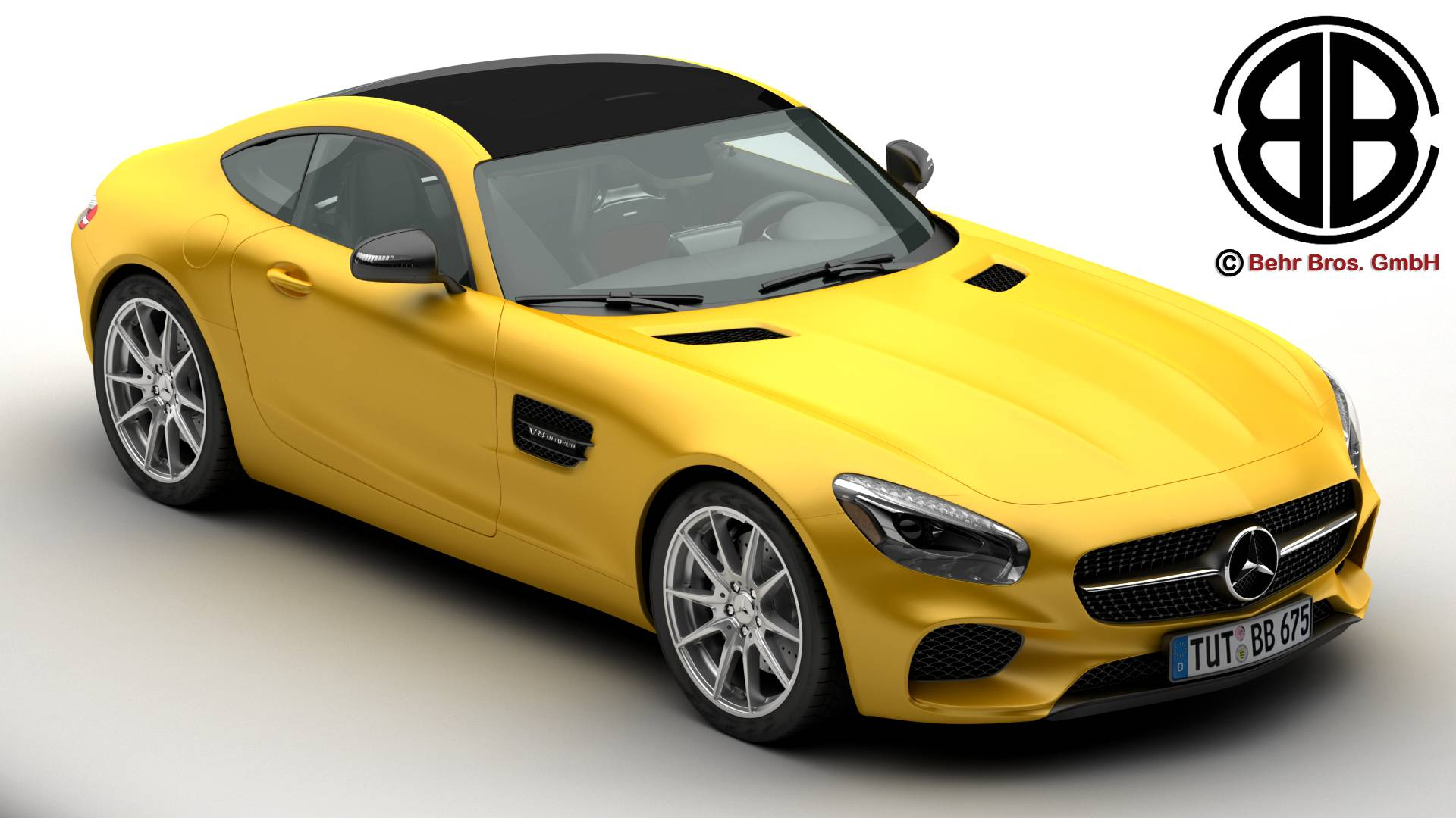 mercedes amg gt 2015 eu and us version 3d model 3ds max fbx c4d lwo ma mb obj 210112