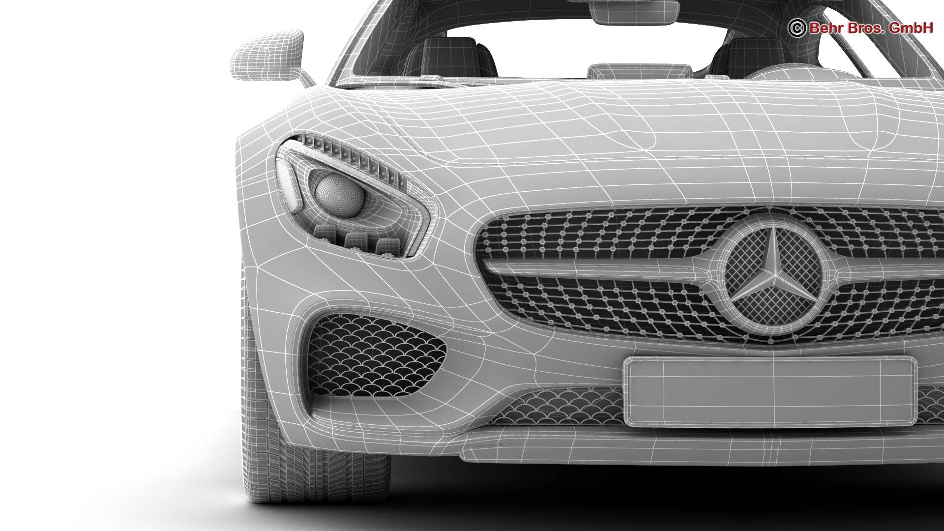 mercedes amg gt 2015 eu and us version 3d model 3ds max fbx c4d lwo ma mb obj 210134