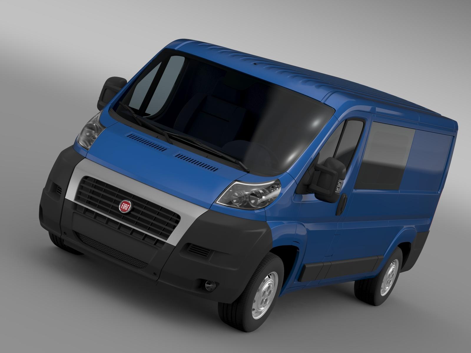 Fiat ducato combi l2h1 2006-2014 3d मॉडल